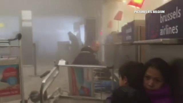 คลิปเหตุการณ์ในสนามบินซาเวนเทมของเบลเยียม
