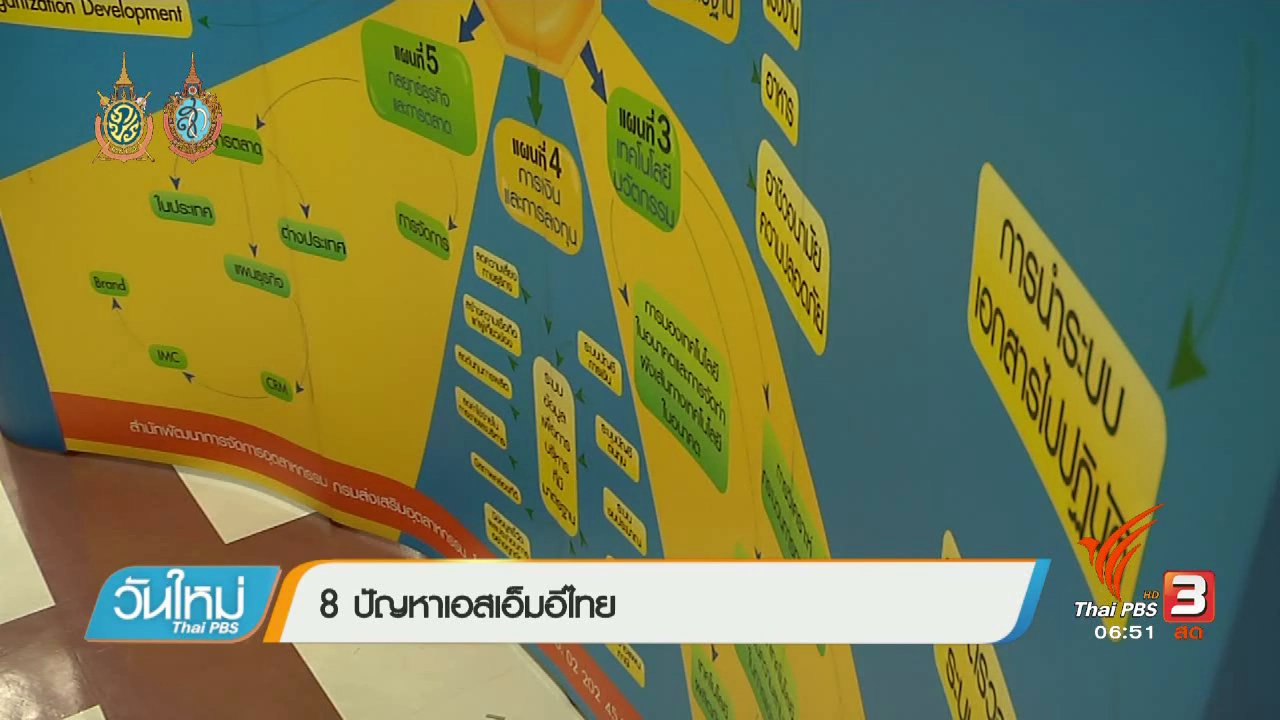 วันใหม่  ไทยพีบีเอส - จับสัญญาณเศรษฐกิจ : 8 ปัญหาเอสเอ็มอีไทย
