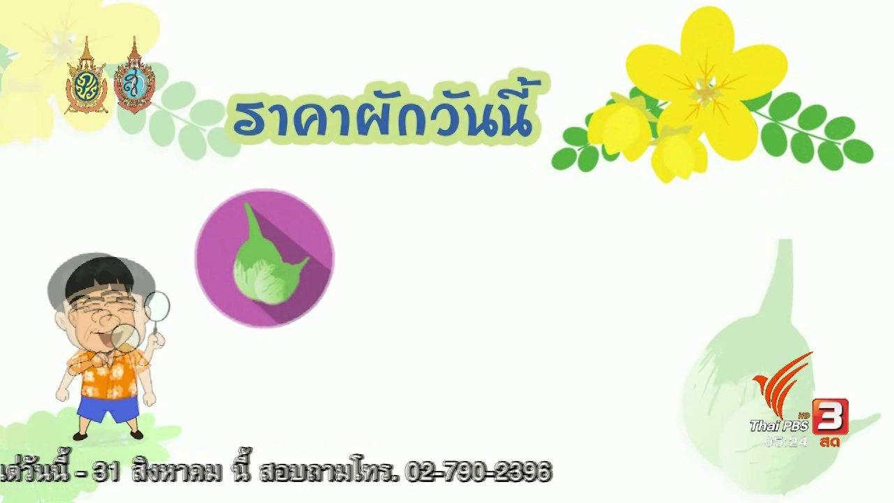วันใหม่  ไทยพีบีเอส - สายสืบเจาะตลาด : สืบราคาผักช่วงฤดูฝน ตลาดศรีเมือง จ.ราชบุรี