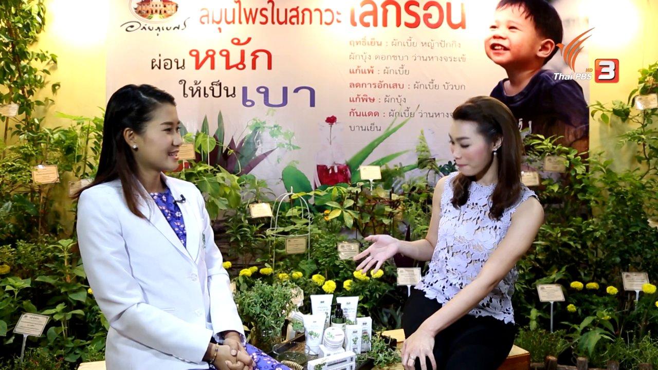 คนสู้โรค - ผักเบี้ยใหญ่ สมุนไพรไทยช่วยหน้าเต่งตึง