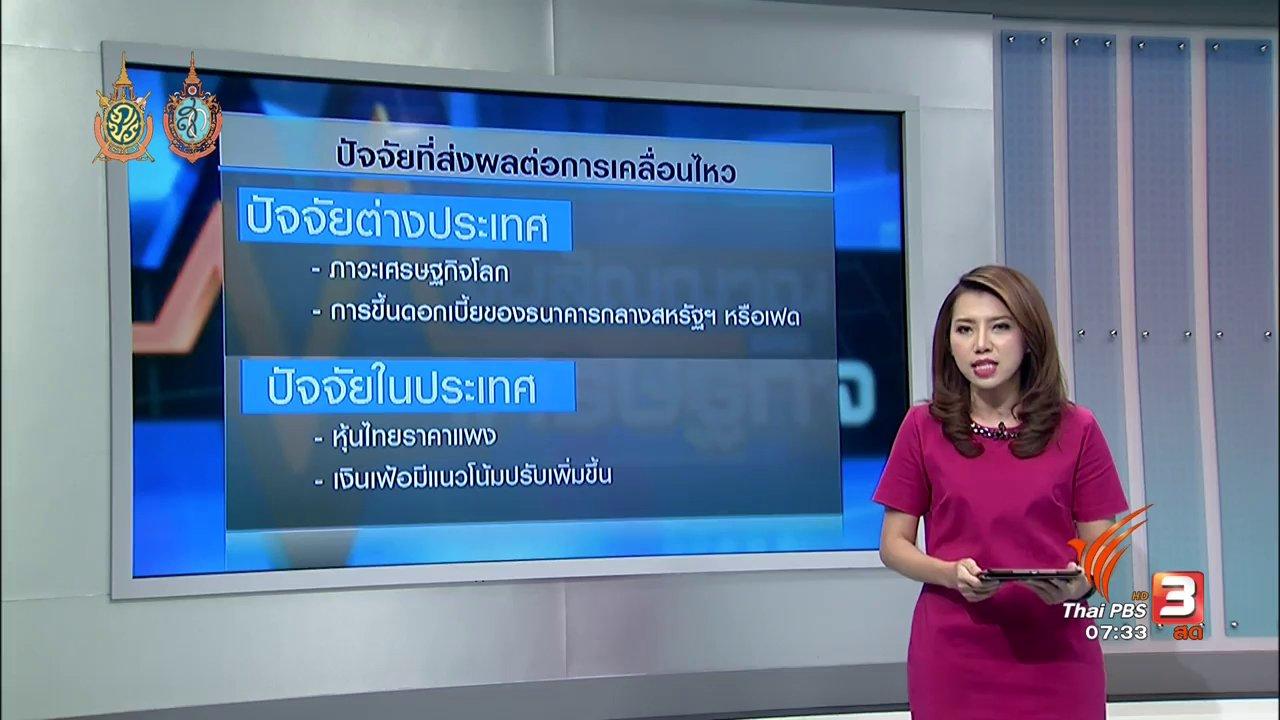 วันใหม่  ไทยพีบีเอส - ปัจจัยกดดันตลาดหุ้นร่วง